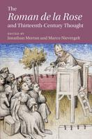 The    Roman de la Rose  and Thirteenth Century Thought PDF