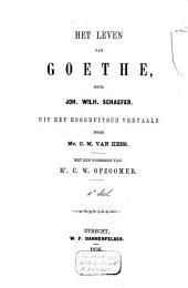 Het leven van Goethe: Volume 1