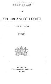 Staatsblad van Nederlandsch Indië: Volume 1860