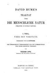 Traktat über die menschiliche natur: (Treatise on human nature)., Band 1
