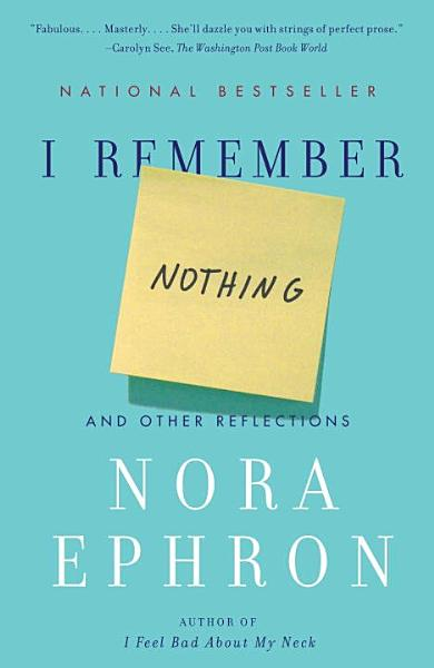 I Remember Nothing
