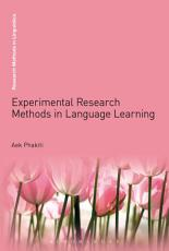 Experimental Research Methods in Language Learning PDF