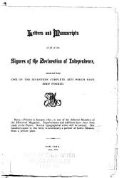 Letters and Manuscripts of All of the Signers of the Declaration of Independence PDF