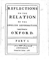 Reflexions on the relat. of the english Reformation