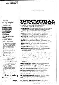 Industrial Research   Development PDF