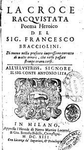 La croce racquistata poema heroico del sig. Francesco Bracciolini