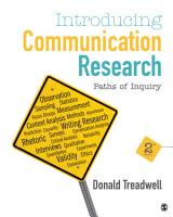 Introducing Communication Research PDF