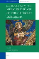 Companion to Music in the Age of the Catholic Monarchs PDF