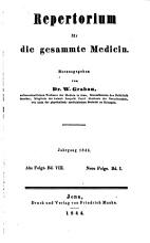 Repertorium f  r die gesammte Medicin PDF