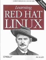 Learning Red Hat Linux PDF
