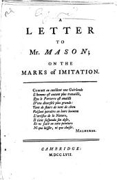 A Letter to Mr. Mason: On the Marks of Imitation