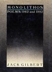 Monolithos: Poems '62-'82