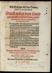 Acht Predigen uber den Sontag Septuagesima