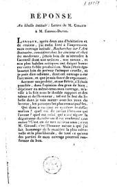 Réponse au libelle intitulé Lettre de M. Giraud à M. Emeric-David