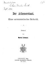Der Athenerstaat: eine aristotelische Schrift