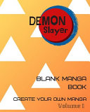Blank Comic Book Demon Slayer