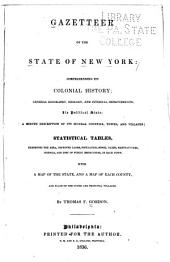 Gazetteer of the State of New York: Comprehending Its Colonial History, General Geography, Geology, and Internal Improvements, Its Political State, a Minute Description of Its Several Counties, Towns, and Villages, Statistical Tables, Exhibiting the Area, Improved Lands, Population, Stock, Taxes, Manufactures, Schools, and Cost of Public Instruction, in Each Town : with a Map of the State, and a Map of Each County, and Plans of the Cities and Principal Villages