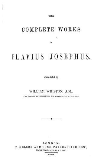 The Complete Works of Flavius Josephus PDF