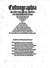 Cosmographia Pomponij Mele: Authoris nitidissimi Tribus Libris digesta