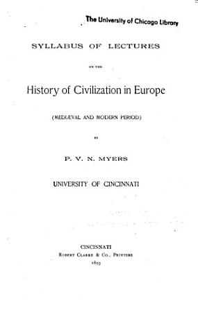 Syllabus of Lectures on the History of Civilization in Europe PDF
