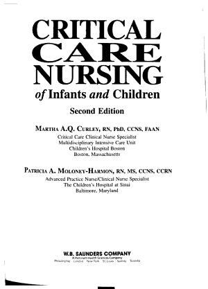 Critical Care Nursing of Infants and Children PDF