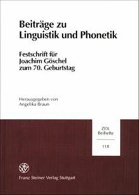 Beitr  ge zu Linguistik und Phonetik PDF