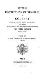 Lettres, instructions et mémoires de Colbert: Volume3,Numéro2