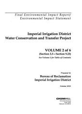 Imperial Irrigation District Water Conservation and Transfer Project and Draft Habitat Conservation Plan: Environmental Impact Statement, Volume 2