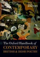 The Oxford Handbook of Contemporary British and Irish Poetry PDF