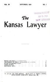 The Kansas Lawyer: Volume 15