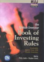 The Global Investor Book of Investing Rules PDF
