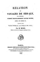 Relation de ses voyages, ecrite en Turk, trad. de l'Allemand sur la version de Diez par M. Moris