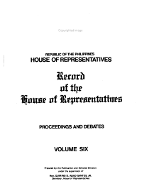 Record of the House of Representatives