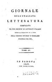 Giornale dell'Italiana letteratura: Volume 15