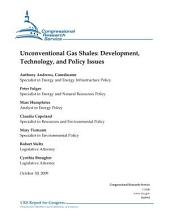 Unconventional Gas Shales: Development, Technology, and Policy Issues