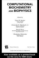 Computational Biochemistry and Biophysics PDF