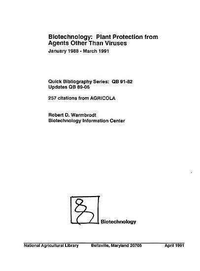 Biotechnology  Plant Protection from Agents Other Than Viruses PDF