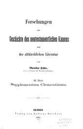 Forschungen zur Geschichte des neutestamentlichen Kanons und der altkirchlichen Literatur: Bände 3-4