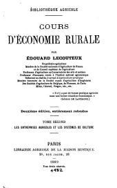 Cours d'economie rurale: Volume2