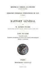 Rapport général: L'exposition rétrospective du travail et des sciences anthropoliques. Résumé et conclusions