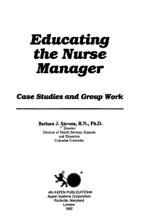 Educating the Nurse Manager PDF