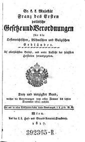 Sr. k. k. Mäjestät Franz des zweyten politische Gesetze und Verordnungen für die Oesterreichischen, Böhmischen und Galizischen Erbländer: Band 43