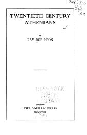 Twentieth Century Athenians