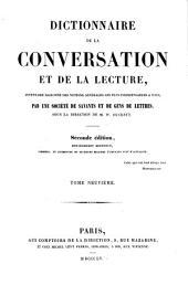 Dictionnaire de la conversation et de la lecture inventaire raisonné des notions générale les plus indispensable à tous: Volume9