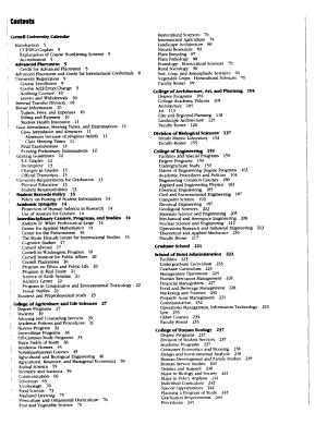 Cornell University Courses of Study PDF
