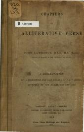 Chapters on Alliterative Verse