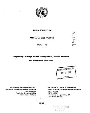 Kenya Population PDF