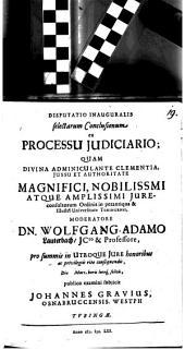 Diss. inaug. selectarum conclusionum ex processu iudiciario