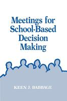 Meetings for School Based Decision Making PDF