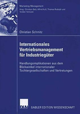 Internationales Vertriebsmanagement f  r Industrieg  ter PDF